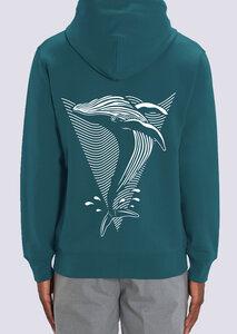 Save a Whale, Herren Zipper Hoodie aus Bio-Baumwolle mit Print Wal - vis wear