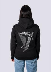 Whale, Damen Premium Hoodie aus Bio-Baumwolle Print Wal - vis wear