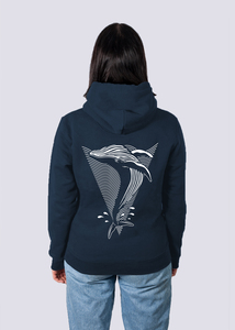 Whale, Herren Premium Hoodie aus Bio-Baumwolle Print Wal - vis wear