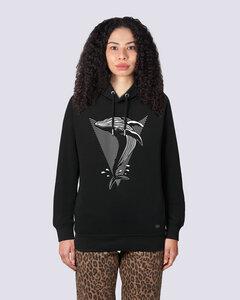 Whale, Damen Premium Kapuzensweat, Hoodie aus Bio Baumwolle Print Wal - vis wear