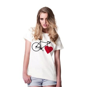 BIKE LOVE (girls eco-shirt white) - nicegreenstuff