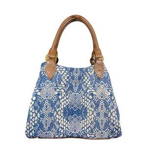 Amphora - African Light Blue - Leder/Canvas - Premium Hand- & Tragetasche - Afar