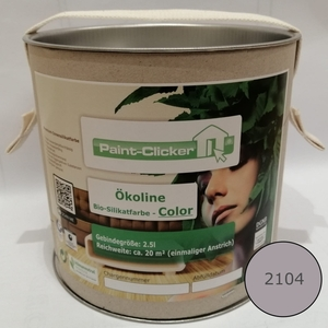 Paint-Clicker Ökoline Innensilikatfarbe Farbton (2104) - Paint-Clicker Ökoline