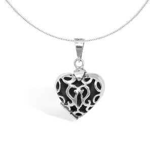 Kette Silber Herz Amulett fein handmade Fair-Trade - pakilia