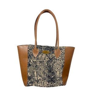 Jasmine - African Tribal Ethno Bag - Leder/Canvas - Premium Hand- & Schultertasche - Afar
