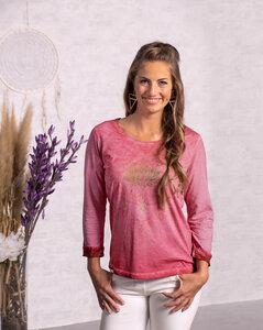 Langarmshirt Pink- Orchidee - Spirit of OM