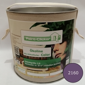 Paint-Clicker Ökoline Innensilikatfarbe Farbton (2160) - Paint-Clicker Ökoline