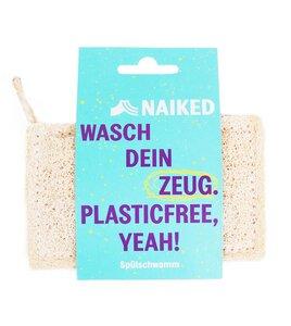 Spülschwamm aus Luffa, 100% plastikfrei & kompostierbar - NAIKED