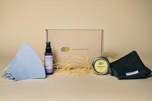Nachhaltiges & Faires Hygiene-Set - Maske | Hygienespray | Handcreme | Handtuch - 4peoplewhocare