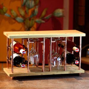 DIY Weinregal wine rack Weinhalter Tischregal Deko Bau Set Geschenk Bodeguita - Holzköpfchen
