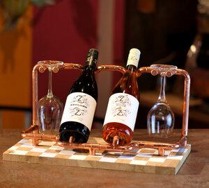 DIY Weinregal wine rack Weinhalter Tischregal Deko Bau Set Geschenk Volando - Holzköpfchen