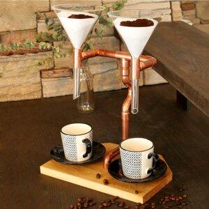 DIY Kaffeebereiter Coffee Maker Filterkaffee Kaffee Pour Over Twin - Holzköpfchen
