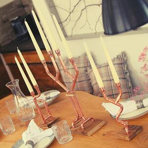 DIY Kerzenständer Kerzenhalter Kerzen Tischdeko Dekoration Wohnzimmer Küche Filigrano - Holzköpfchen