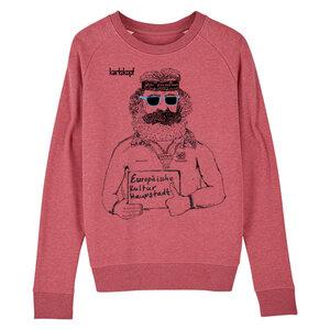Sweatshirt - Bedruckter Damen Sweater aus Bio-Baumwolle KULTURBANAUSE - karlskopf