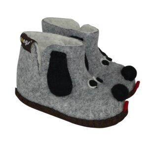 Hausschuhe - Baby Dogs Grau - mongs®
