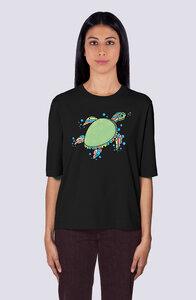 Süße Schildkröte, Damen Premium Shirt aus Bio Baumwolle Print - vis wear