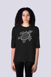 Yoga Schildkröte, Damen Premium Shirt aus Bio Baumwolle - vis wear