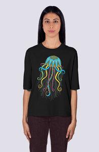 Qualle, Damen Premium Shirt aus Bio-Baumwolle - vis wear