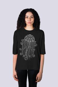 Yoga Qualle, Damen Premium Shirt aus Bio Baumwolle - vis wear