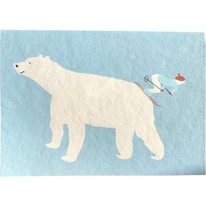 Weihnachtskarte Eisbär - Salon Elfi