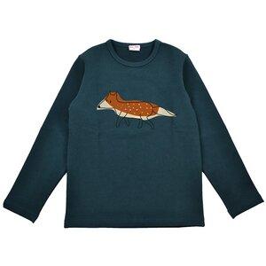 Langarm Shirt Fuchs dunkelgrün longsleeve - Baba Babywear
