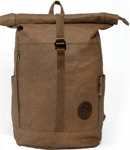 Rucksack aus Papier, robust, wasserfest Damen Herren vegan Rolltop Neu - PAPERO