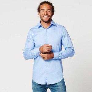 Nachhaltige Langarm Herren Hemd Skot Circular Blue - SKOT Fashion