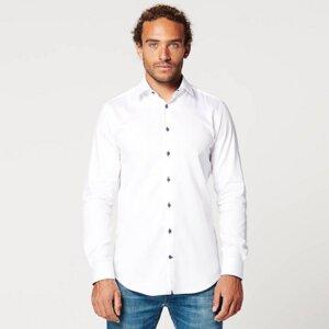 Nachhaltige Langarm Herren Hemd Circular White Contrast - SKOT Fashion