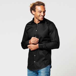 Nachhaltige Langarm Herren Hemd Circular Black - SKOT Fashion