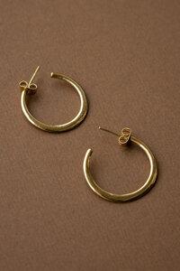 Goldene Creolen Aadha aus Messing sichelförmig - Jyoti - Fair Works