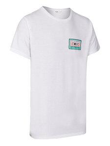 Unisex T-Shirt mit  Mixtape-Print - eyd