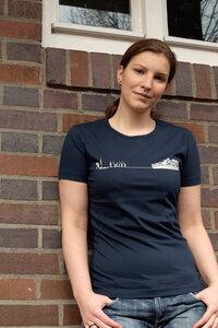 Containerschiff Girl-T-Shirt - T-Shirtladen-Marktstrasse GmbH