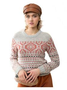 Alma&Lovis Damen Norweger Pullover reine Baby-Alpakawolle - Alma & Lovis