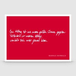 Postkarte mit Spruch: Im Alltag... - Markus Mirwald