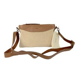 Taitu - 2in1 Premium Canvas & Leder Umhängetasche / Handtasche / Schultertasche by Afar Textiles - Afar