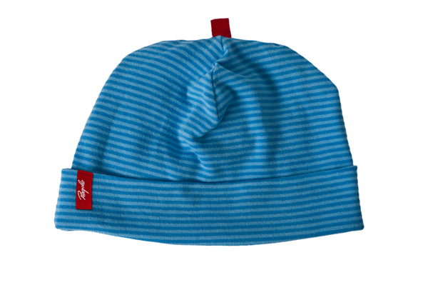 b99ac9385b People Wear Organic - Baby Mütze blau/geringelt Bio Baumwolle | Avocadostore