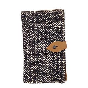 African Ethno Geldbeutel - Tukul Navy & Tread Brown  / Geldbörse / Portemonnaie by Afar Textiles - Afar