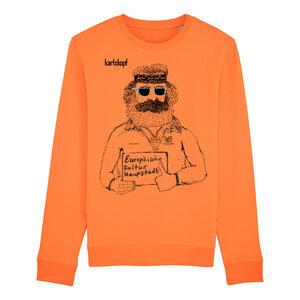 Sweatshirt - Bedruckter Herren Sweater aus Bio-Baumwolle KULTURBANAUSE  - karlskopf