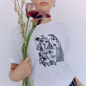 Tanya printed T-Shirt aus Bio-Baumwolle - Project Três