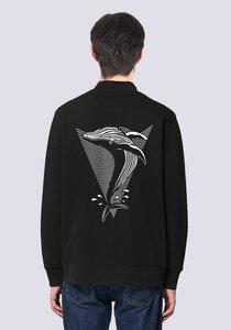 Save the Whale, Leichte Herren Sweatshirt Jacke Print Wal - vis wear