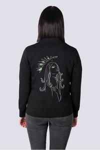 Göttin des Meeres, Leichte Damen Sweatshirt Jacke Print - vis wear
