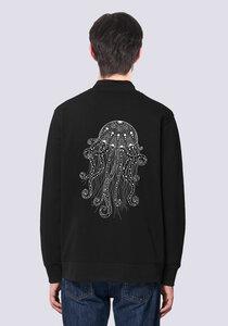 Yoga Qualle, Leichte Herren Sweatshirt Jacke Print - vis wear