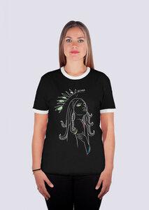 Göttin des Meeres, Damen Ringer Premium Shirt aus Bio Baumwolle - vis wear