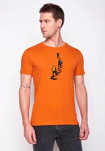 Herren Shirt 100% Biobaumwolle Nature Climber Guide GOTS Zertifiziert - GreenBomb