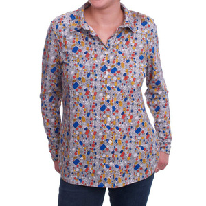 "Bluse ""Jewel Shirt"" mit Edelsteinmuster - People Tree"