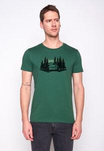 Herren Shirt 100% Biobaumwolle Nature Forest Tent Guide GOTS Zertifiziert - GreenBomb