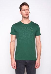 Herren Shirt 100% Biobaumwolle Nature Mountains Call Guide GOTS Zertifiziert - GreenBomb
