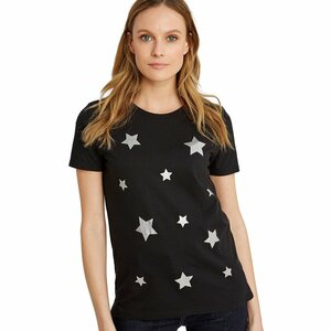 "Damen-T-Shirt ""Scatterd Stars Tee"" in Schwarz - People Tree"