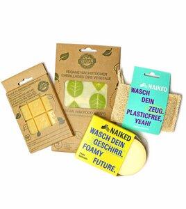 Set Wachstücher mit DIY Kit und Reinigung, vegan - nuts innovations und NAIKED