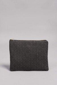 """Handtasche & Clutch """"FABIOLA"""" in Schwarz, handgefertigt in Lateinamerika, 22x28 cm, Tablet bis 12 Zoll - Nata Y Limón"""